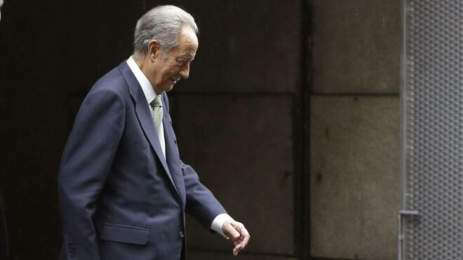 Juan Miguel Villar Mir, a su salida de la Audiencia Nacional hace ahora un año.