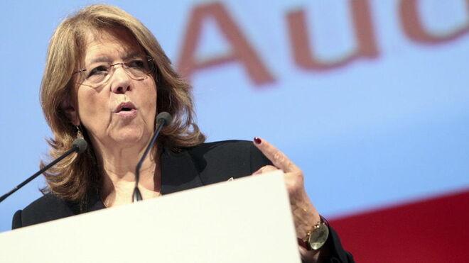 Elvira Rodríguez en su etapa como presidenta de la CNMV.