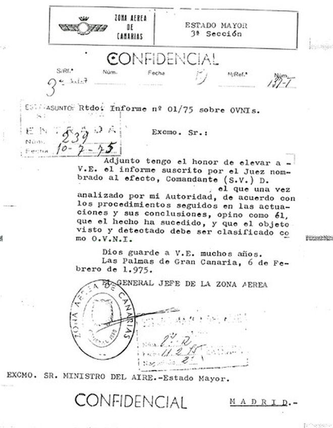 Clasificación de un fenómeno OVNI.
