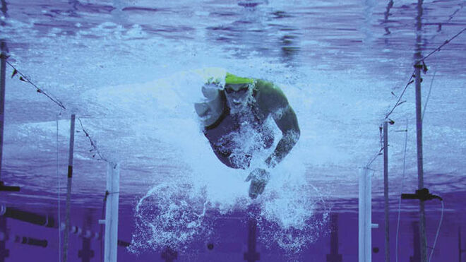 Nadador en Juegos Olímpicos
