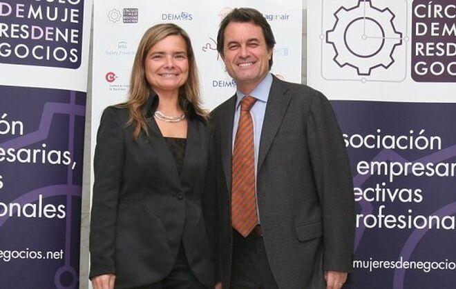 Elena Faba y Artur Mas en la cena del Círculo de Mujeres de Negocios en 2008.