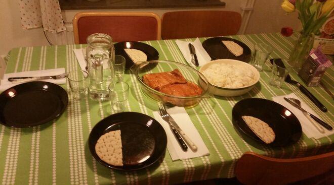 A mesa puesta en Estocolmo