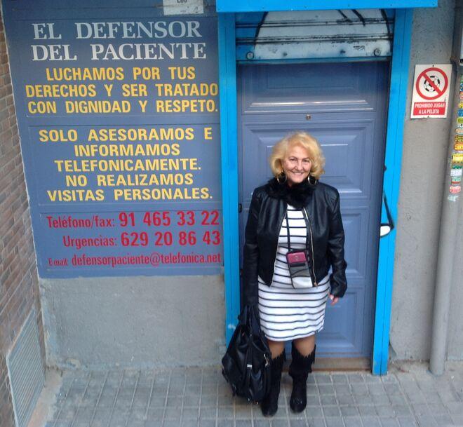 Carmen Flores, presidenta de la asociación El Defensor del Paciente.