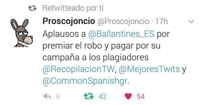 El último tweet de Proscojoncio