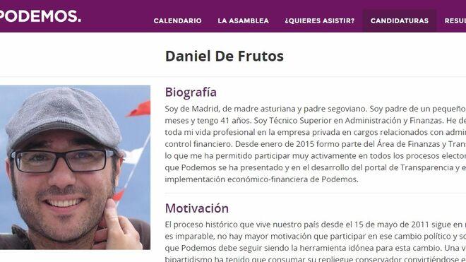 Perfil de Daniel de Frutos como candidato pablista al Consejo Ciudadano para Vistalegre II.