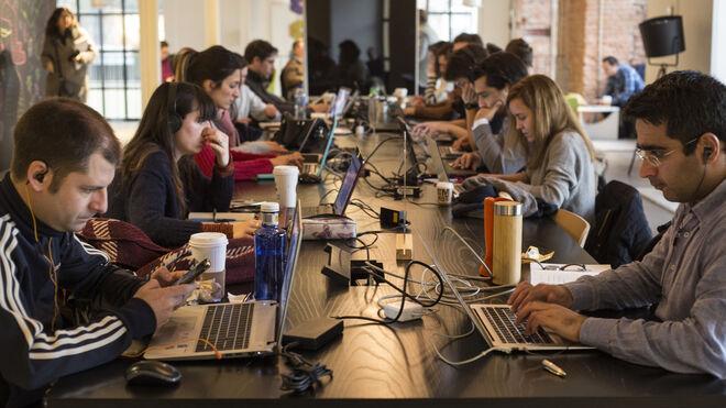 Emprendedores reunidos en el Campus Madrid de Google
