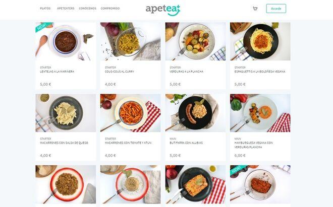 Pantallazo de la web de ApetEat
