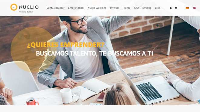 Blanco es fundador de Nuclio, un espacio para construir startups.