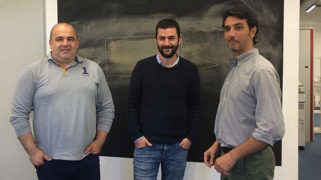 Los fundadores de Housfy: Carlos Blanco, Albert Bosch y Miquel A. Mora.