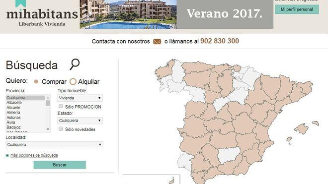 Página web de la inmobiliaria de Liberbank