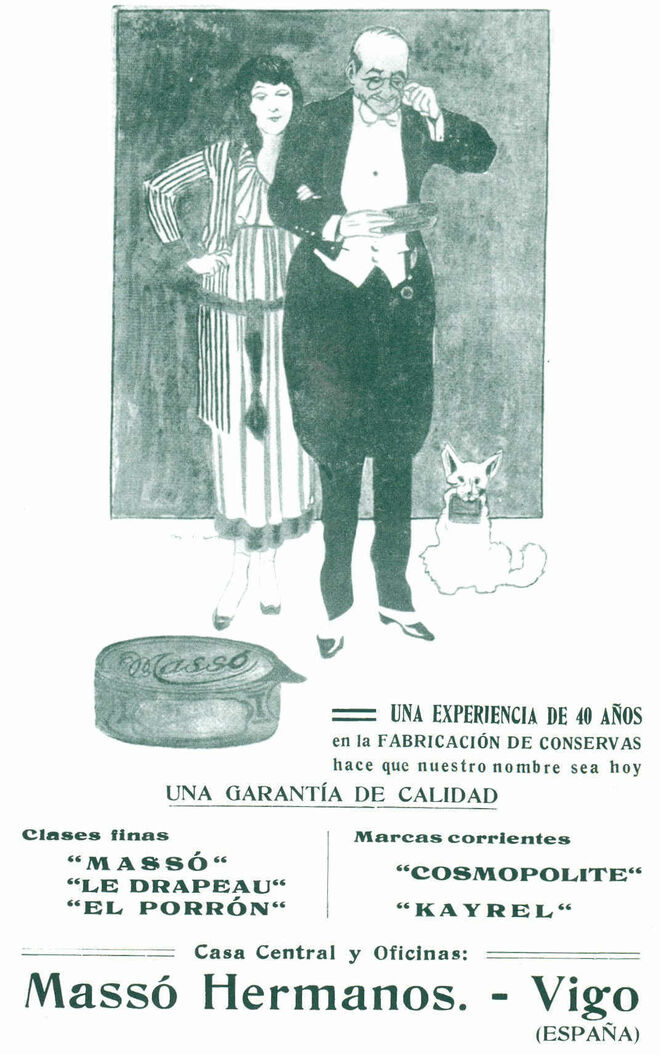 Cartel Publicitario de las conservas Massó