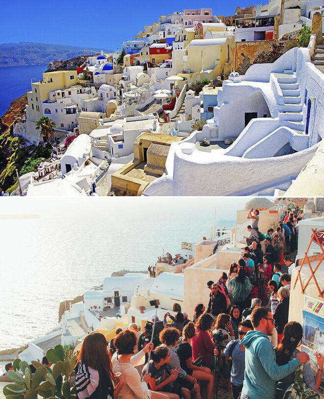 La isla de Santorini, Grecia. Expectativas y realidad