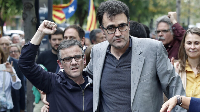 Josep Maria Jové (i) y Lluís Salvadó