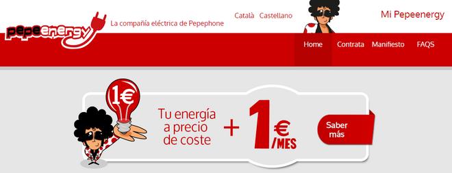 Pepeenergy promete energía a precio de coste más 1 euro al mes