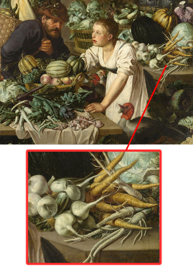 Naturaleza muerta con dos figuras. 1622