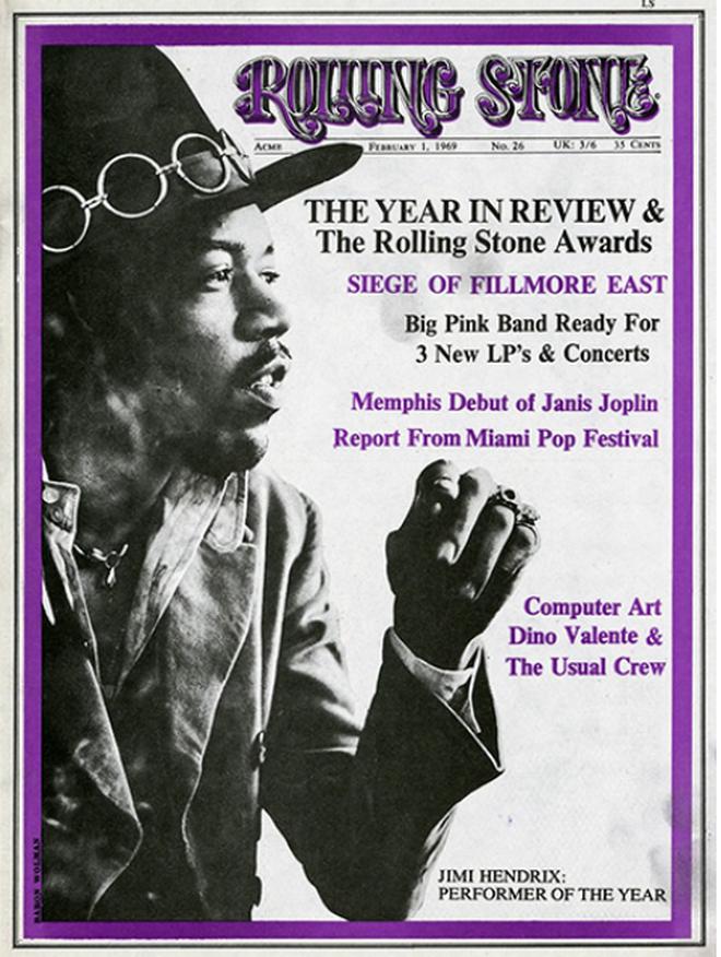Portada con Jimi Hendrix, de Baron Wolman