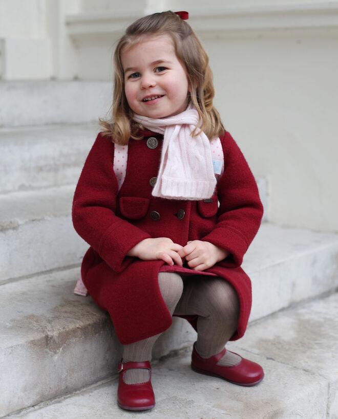 Carlota de Cambridge, en su primer día de guardería.