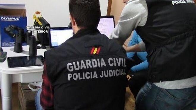 Operación de la guardia civil contra una red de pedófilos.