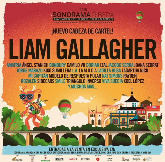 Cartel del Sonorama Ribera 2018
