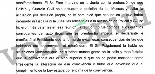 Puigdemont primó la convivencia y desde Interior le recordaron la obligación de cumplir la Ley
