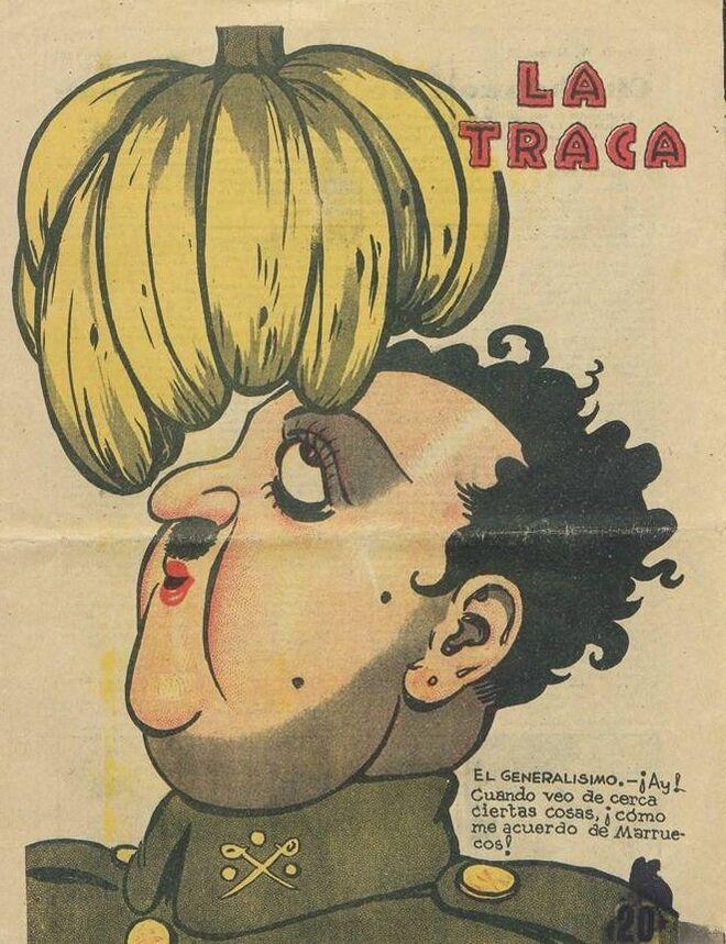 Franco travestido. 1937
