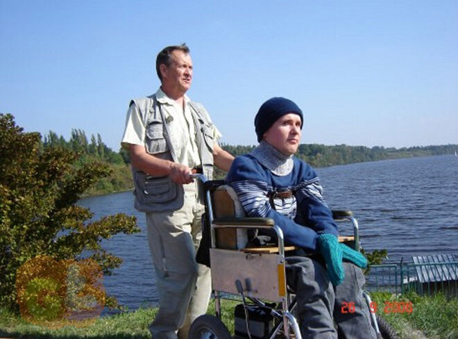 Greg y su padre en 2006