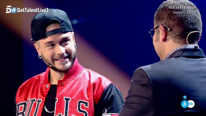 Jorge Javier sorprendió a Adrián Rodríguez con la noticia en Got Talent.
