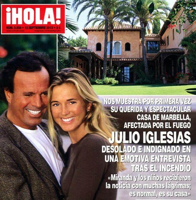 Julio Iglesias y Miranda mostraron su casa de Ojén en '¡Hola!'.