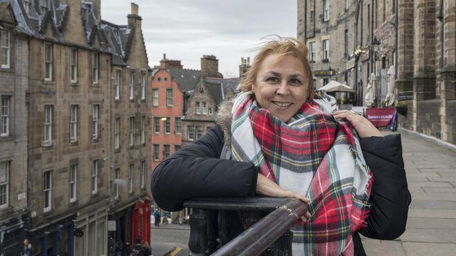 Megan Maxwell esta semana en Escocia.
