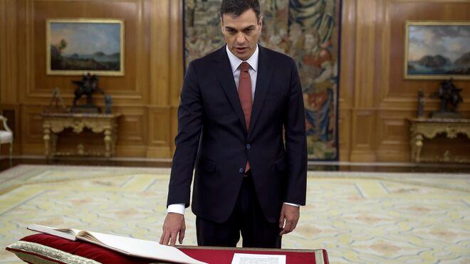 Pedro Sánchez, en su toma de posesión como presidente en 2018