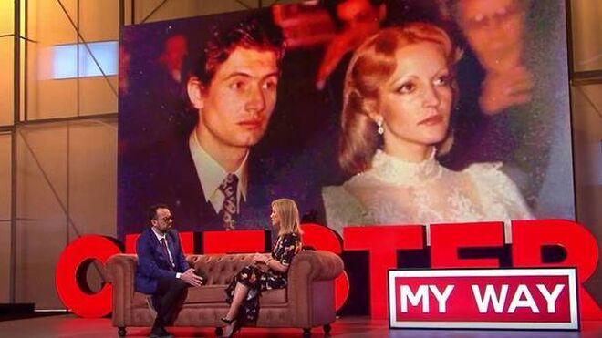 El marido fallecido de Carmen Lomana y ella, de jóvenes.