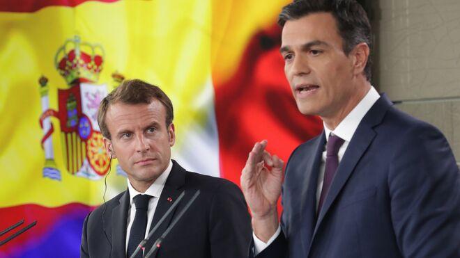 El presidente francés, Emmanuel Macron, y el presidente de España, Pedro Sánchez.