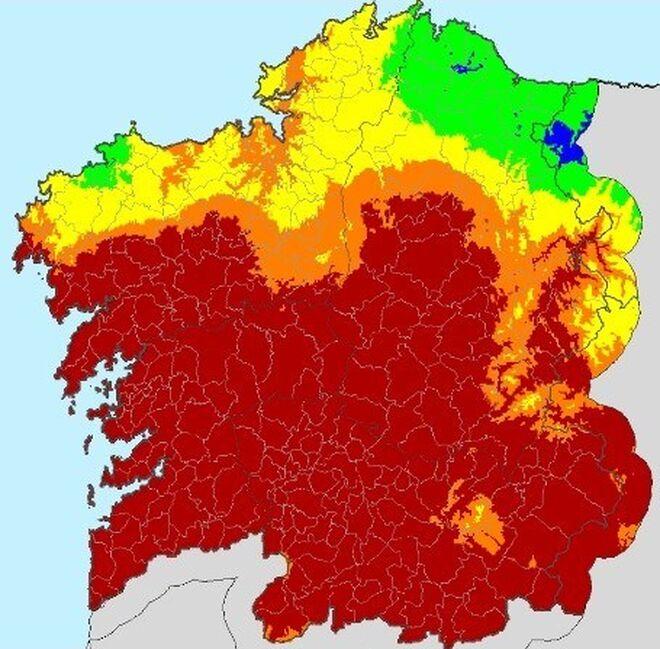 Mapa de riesgo de incendio