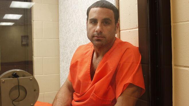 Pablo Iba en el corredor de la muerte.