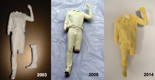 Progresivo deterioro de las figuras realizadas por Karin Sander
