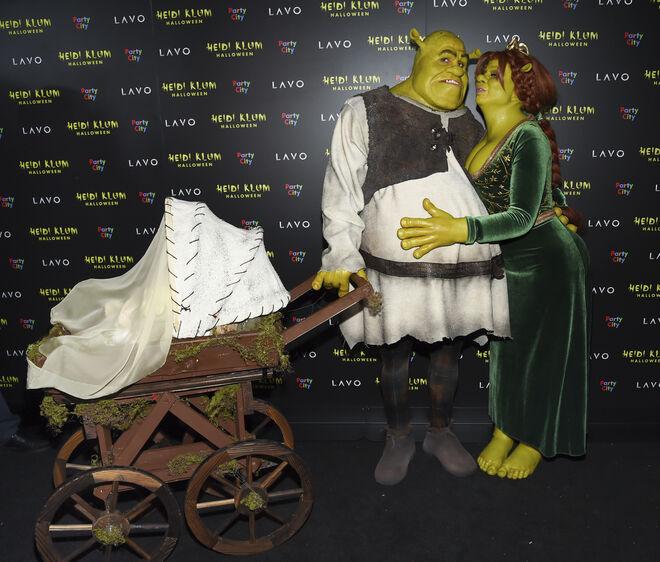 Heidi Klum y Tom Kaulitz se han disfrazado de Shrek y la princesa Fiona.