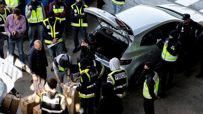 Intervención de la Policía en Sant Adrià del Besós.