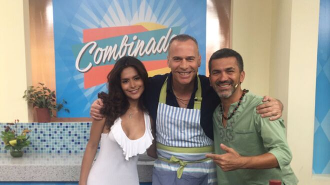 Miriam y Carlos en un programa peruano
