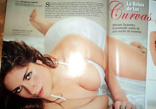 Miriam en una revista peruana