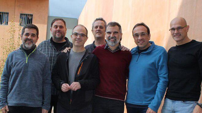 La primera imagen de los independentistas presos