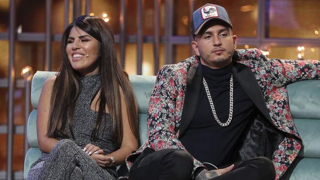 Omar Montes con Chabelita en el plató de GH VIP