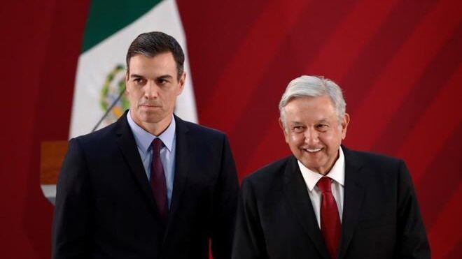 Pedro Sánchez y López Obrador.