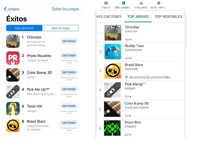 Chicotaz, número uno en iOs y Android