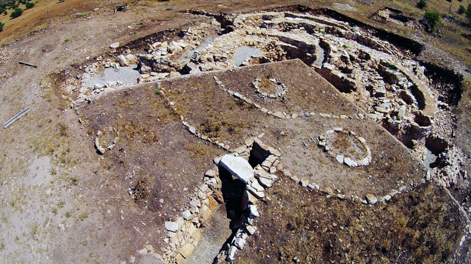 Imagen aérea del yacimiento de Castillejo del Bonete