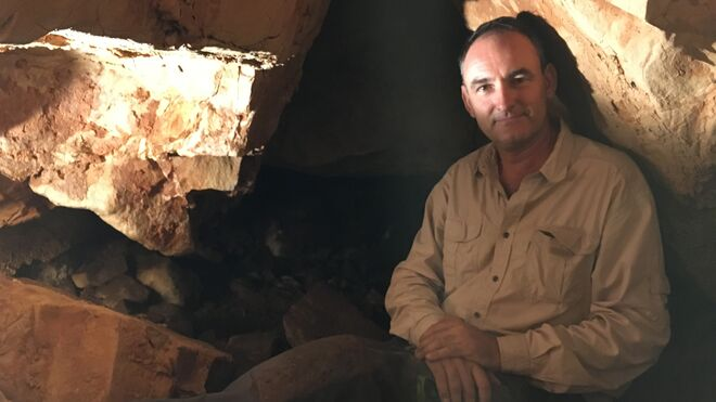 El arqueólogo Luis Benítez de Lugo