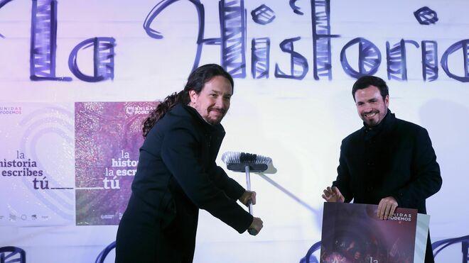 Pablo Iglesias y Alberto Garzón en Madrid