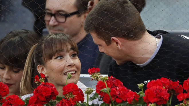 Aitana y Miguel en el partido deRafael Nadalen el Mutua Open de Madrid