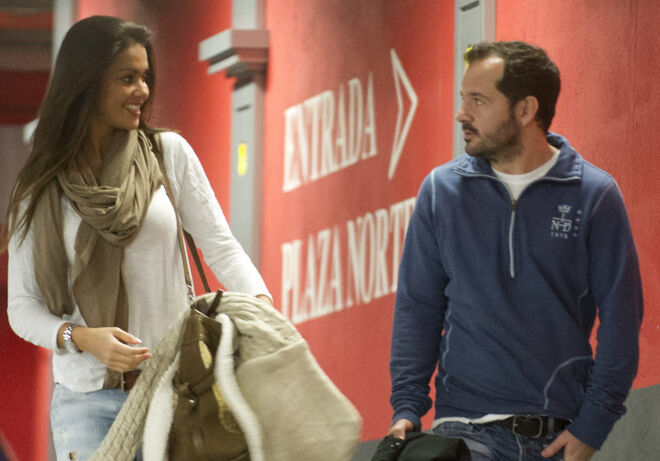 Lara Álvarez y Ángel Martín en 2012