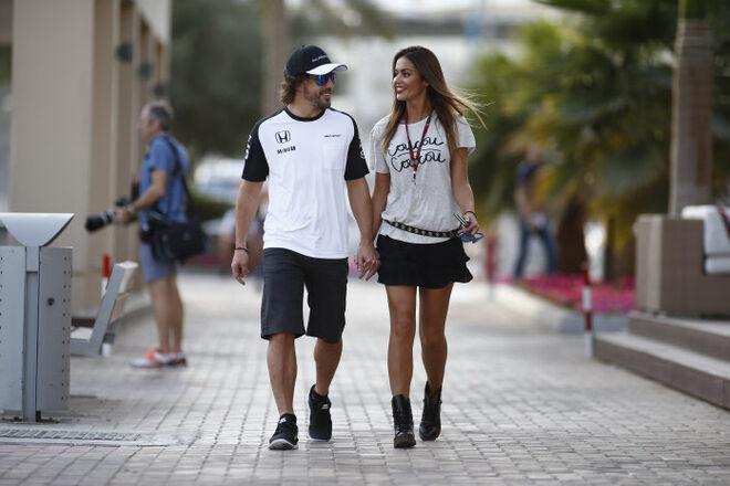 Lara Álvarez y Fernando Alonso en 2015
