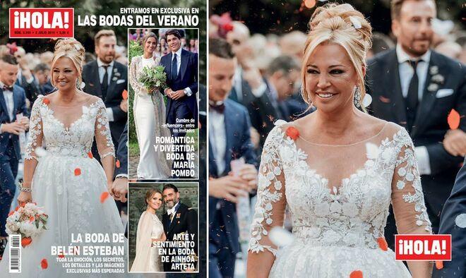 Primera foto de Belén Esteban vestida de novia en su boda con Miguel Marcos